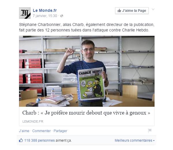 FanPage du Monde #JeSuisCharlie Culture RP