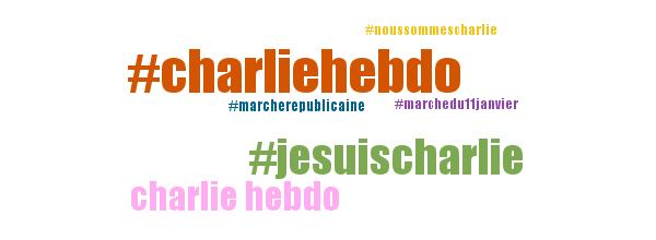 Nuage de Tag #JeSuisCharlie