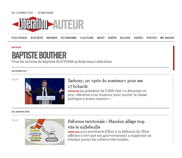 Journaliste Baptiste Bouthier à Liberation rubrique Desintox
