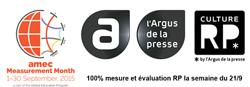 Agenda AMEC Culture RP et l'Argus de la presse pour la semaine de la mesure