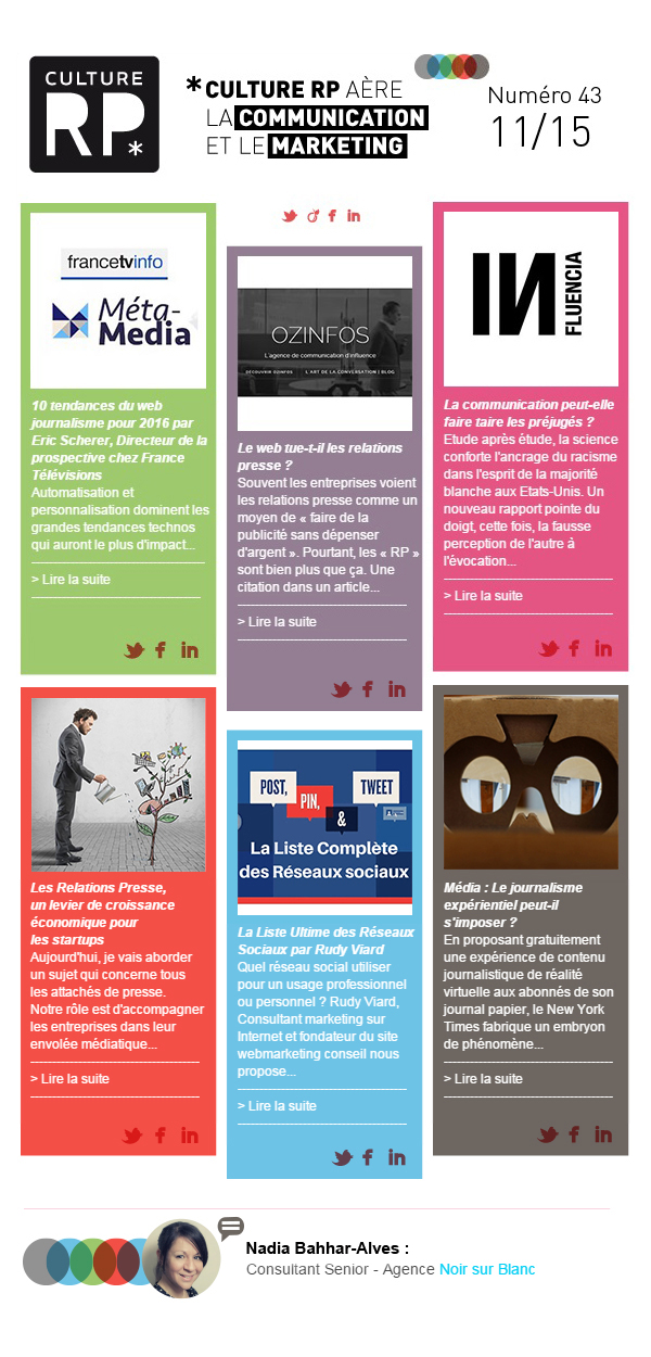 Newsletter Culture RP n°43