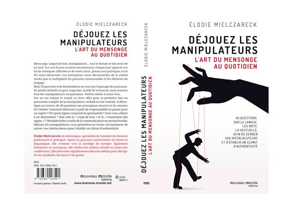Couverture Déjouez les manipulateurs par Elodie Mielczareck
