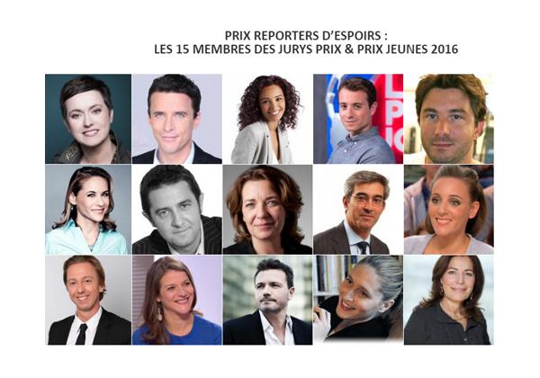 Prix reporters d'espoirs Membres des jury Prix 2016