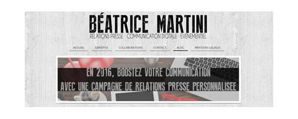Site de Béatrice Martini