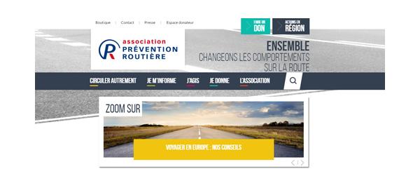 Site de l'association de la sécurité routière